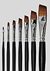 Grimas Red Sable Slanted Brushes