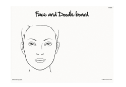 FAB006 Wipeable Practice Board Adult Face and Doodle