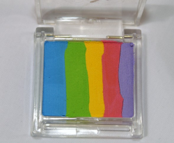 Face Paints Australia Split Cake Mini Pastel Rainbow 15 g (Mini sponge included)