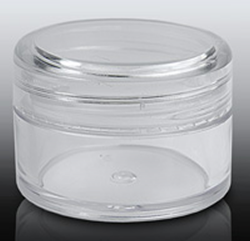 Empty Clear Screw Top Jar and Clear Lid 20 ml