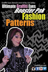 Graffiti Eyes Stencils Fashion Patterns Booster Pak