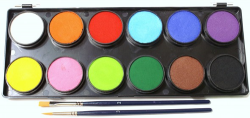 Face Paints Australia Essentials Palette 12 x 10 g