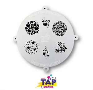 TAPG104 Galaxy Face Painting Stencil Fanciful