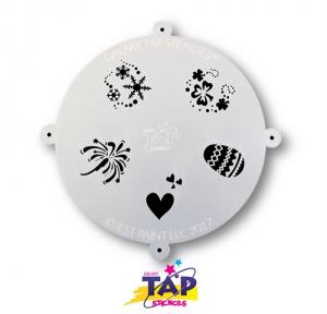 TAPG101 Galaxy Face Painting Stencil Holidays