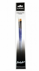 Global Colours Body Art Two Brush Set