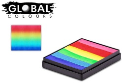 Global Colours Body Art Rainbow Cake Bright Rainbow 50 g