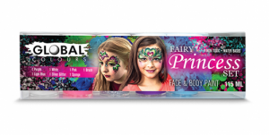 Global Colours Body Art Fairy Princess Face and Body Paint Set