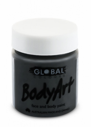 Global Body Art Liquid Face Paint Standard Black 45 ml