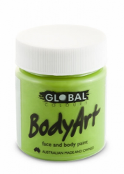 Global Body Art Liquid Face Paint Standard Green Light 45 ml