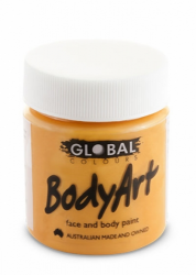 Global Body Art Liquid Face Paint Standard Orange 45 ml