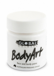 Global Body Art Liquid Face Paint Standard White 45 ml