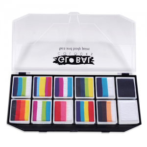 Global Colours Body Art Rainbow Explosion Kit 12 x 10 g
