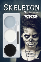 Global Colours Body Art Skeleton FX Palette 15 g