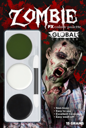Global Colours Body Art Zombie FX Palette 15 g