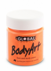 Global Body Art Liquid Face Paint Fluoro Orange 45 ml