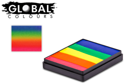Global Colours Body Art Rainbow Cake Neon Rainbow 50 g