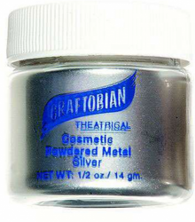 Graftobian Metallic Powder Silver (Approx 1 oz/28 g)