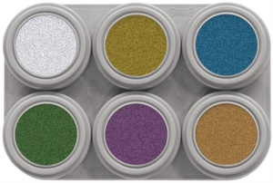 M6 Grimas Metallic Water Makeup Palette 6 x 2.5 ml