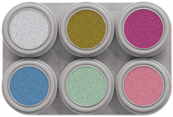 P6 Grimas Pearl Water Makeup Palette 6 x 2.5 ml
