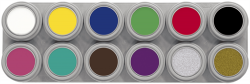 12A Grimas Water Makeup Palette 12 x 2.5 ml