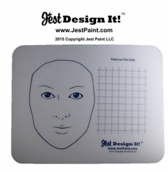 Jest Design It! Face Painting Practice Board Adult and Grid