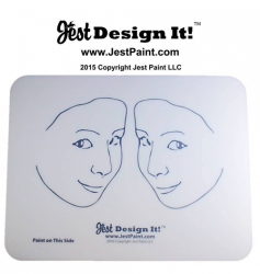 Jest Design It! Face Painting Practice Board 2 Side View Kids