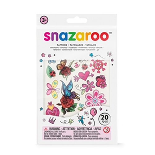 Snazaroo Temporary Girls Fantasy Tattoos 20 Pack