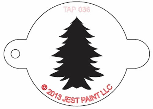 TAP Face Painting Stencil Christmas Tree