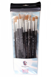 PartyXplosion Profigrime Brush Set Assorted x 15 Brushes