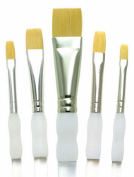 Royal and Langnickel Soft Grip Flat Brush Set (5 Piece)