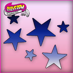 1015 Silly Farm Pink Power Stencil Star Cluster