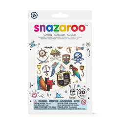 Snazaroo Temporary Boys Adventure Tattoos (20 Pack)