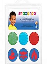 Snazaroo Face Paint Stamp Kit - Pirates