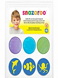 Snazaroo Face Paint Stamp Kit - Under the Sea