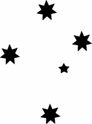 TAG Adhesive Stencil Southern Cross