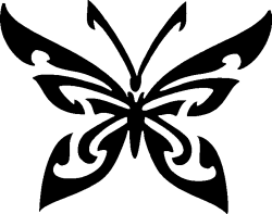 TAG Adhesive Stencil Tribal Butterfly