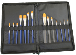 TAG Brush Wallet with Zip (Brushes Included)