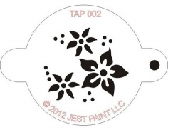 TAP002 Face Painting Stencil Flowers