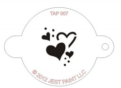 TAP007 Face Painting Stencil Hearts