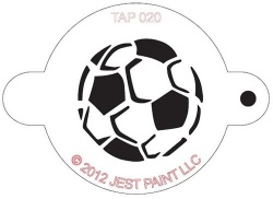 TAP020 Face Painting Stencil Soccer Ball