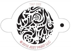 TAP022 Face Painting Stencil Swirly Pattern