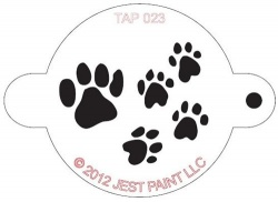 TAP023 Face Painting Stencil Paw Prints