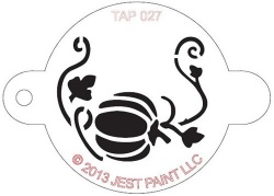 TAP027 Face Painting Stencil Pumpkin with Vine