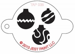TAP035 Face Painting Stencil Christmas Ornaments