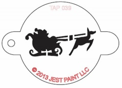 TAP039 Face Painting Stencil Santa