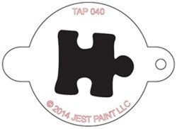 TAP040 Face Painting Stencil Jigsaw Piece