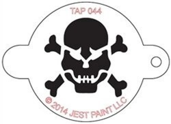 TAP044 Face Painting Stencil Skull with Crossbones
