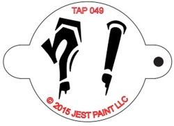 TAP049 Face Painting Stencil Question Mark and Exclamation