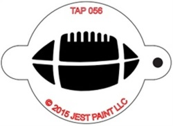 TAP056 Face Painting Stencil Football/Rugby Ball