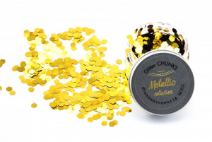 Treasure House Glitter Chunks Metallic Leopold Lemongold 30 g